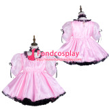 French Sissy Maid Satin Dress Lockable Uniform Cosplay Costume Tailor-Made[G3730]