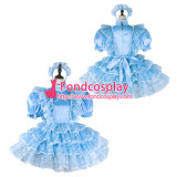 French Sissy Maid Satin Dress Lockable Uniform Cosplay Costume Tailor-Made[G2269]
