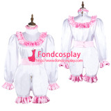 French Sissy Maid Satin Dress Lockable Uniform Cosplay Costume Tailor-Made[G3720]