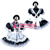 French Sissy Maid Pvc Dress Lockable Uniform Cosplay Costume Tailor-Made[G2127]
