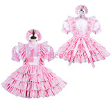 French lockable Sissy maid Cotton-Jacquard dress cosplay costume Tailor-made[G3822]