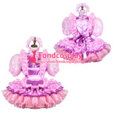 French Sissy Maid Satin Dress Lockable Uniform Cosplay Costume Tailor-Made[G3799]