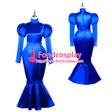 French Sissy Maid Satin Dress Lockable Uniform Cosplay Costume Tailor-Made[G3722]
