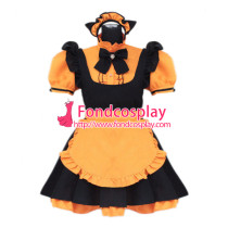French lockable sissy maid Satin dress cosplay Unisex Tailor-made[G3924]
