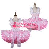 French Sissy Maid Satin Dress Lockable Uniform Cosplay Costume Tailor-Made[G2129]