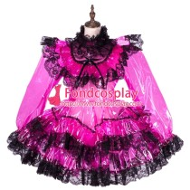 French Clear Pvc Sissy Maid Lockable Dress Tpu Uniform Tailor-Made[G1764]