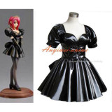French Sissy Maid Dress Gothic Lolita Punk Black Pvc Cosplay Costume Tailor-Made[G290]