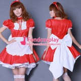 French Lockable Satin Sissy Maid Dress Uniform Tailor-Made[G1612]
