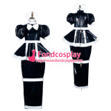 French Sissy Maid Pvc Dress Lockable Uniform Cosplay Costume Tailor-Made[G3777]