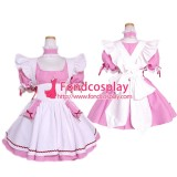 French Lockable Sissy Maid Dress Cotton  Uniform Tailor-Made[G1613]