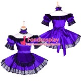 French Sissy Maid Satin Dress Uniform Cosplay Costume Tailor-Made[G1757]