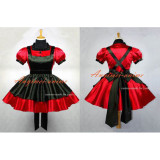 French Red-Black Sexy Sissy Maid Satin Dress Uniform Lockable Dress Cosplay Costume Custom-Made[G645]