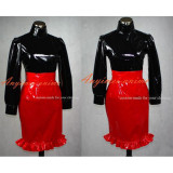 French Sissy Maid Dress Gothic Lolita Punk Pvc Outfit Cosplay Costume Tailor-Made[G388]