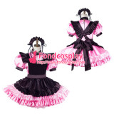 French Sissy Maid Satin Dress Lockable Uniform Cosplay Costume Tailor-Made[G2195]
