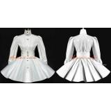 French Sissy Maid Dress Gothic Lolita Punk White Pvc Dress Cosplay Costume Custom-Made[G535]