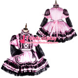 French Sissy Maid Satin Dress Lockable Uniform Cosplay Costume Tailor-Made[G2130]