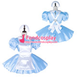 French Sissy Maid Satin Dress Lockable Uniform Cosplay Costume Tailor-Made[G2253]
