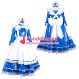 French Lockable Sissy Maid Pvc Dress Long Vinyl Uniform Cosplay Costume Tailor-Made[G1996]
