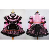French Sexy Sissy Maid Pink Satin Dress Lockable Uniform Dress Cosplay Costume Custom-Made[G661]