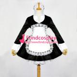 French Sissy Maid Dress Lockable Satin French Maid Uniform Dress Cosplay Costume Custom-Made[G099]