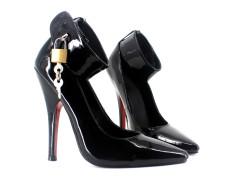 French Pleaser Seduce Crossdresser Lockable Sissy Maid High-heels 12CM
