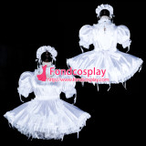 French Sissy Maid Satin Dress Lockable Uniform Cosplay Costume Tailor-Made[G2326]