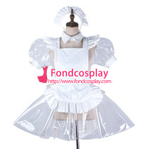 French Sissy Maid Clear Pvc Dress Lockable Uniform Cosplay Costume Tailor-Made[G2191]