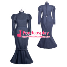 French Sissy maid Wool lockable dress Uniform cosplay costume Tailor-made[G3934]