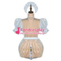 French Sissy Maid Clear Pvc Dress Lockable Uniform Cosplay Costume Tailor-Made[G2426]