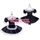 French Sissy Maid Satin Dress Uniform Cosplay Costume Tailor-Made[G1758]