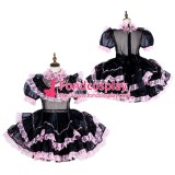 French Lockable Sissy Maid Organza Dress Uniform Cosplay Costume Tailor-Made[G1798]