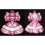 French Sexy Sissy Maid Satin Pink Dress Lockable Uniform Cosplay Costume Tailor-Made[G277]