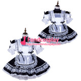 French Sissy Maid Satin Dress Lockable Uniform Cosplay Costume Tailor-Made[G2165]