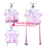 French Sissy Maid Satin Dress Lockable Uniform Cosplay Costume Tailor-Made[G3727]