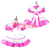 French Sissy Maid Pvc Dress Lockable Uniform Cosplay Costume Tailor-Made[G2139]
