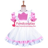 French Lockable Sissy Maid Satin Dress Uniform Cosplay Costume Tailor-Made[G1645]