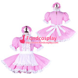 French Sissy Maid Cotton Dress Lockable Uniform Cosplay Costume Tailor-Made[G2258]