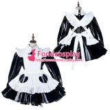 French Sissy Maid Pvc Dress Lockable Uniform Cosplay Costume Tailor-Made[G2170]