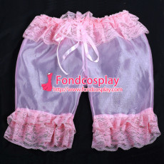 French Sissy Maid Satin Bloomers Cosplay Costume Tailor-Made[G2059]