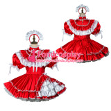 French Sissy Maid Satin Dress Lockable Uniform Cosplay Costume Tailor-Made[G2422]