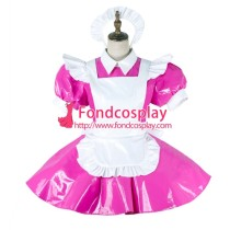 French Lockable Sissy Maid Pvc Dress Vinyl Uniform Cosplay Costume Tailor-Made[G2008]