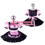 French Sissy Maid Satin Dress Lockable Uniform Cosplay Costume Tailor-Made[G2330]