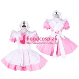 French Sissy Maid Pink Dress Lockable Uniform Cosplay Costume Tailor-Made[G1747]