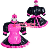 French Sissy Maid Pvc Dress Lockable Uniform Cosplay Costume Tailor-Made[G3751]