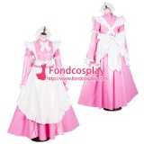 French Lockable Sissy Maid Pvc Vinyl Long Dress Uniform Cosplay Costume Tailor-Made[G1801]