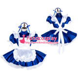 French Sissy Maid Satin Dress Lockable Uniform Cosplay Costume Tailor-Made[G2032]