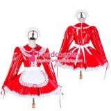 French Lockable Sissy Maid Pvc Dress Uniform Cosplay Costume Tailor-Made[G1751]