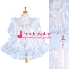 French Clear Pvc Sissy Maid Lockable Dress Tpu Uniform Tailor-Made[G1572]