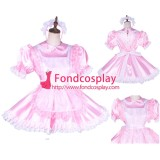 French Lockable Sissy Maid Satin-Organza Dress Uniform Cosplay Costume Tailor-Made[G1765]