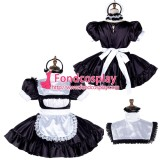 French Lockable Sissy Maid Satin Dress Uniform Cosplay Costume Tailor-Made[G2020]